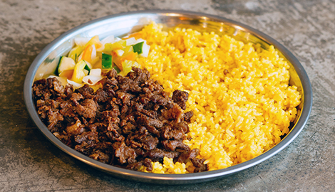 Beef Shawarma Over Rice Shawarma Bros Signature Beef